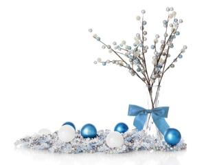 Blueand White Christmas Still Life